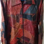 Jaket Kulit Mixed Color Leather
