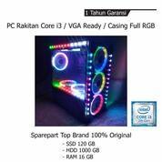 PC Rakitan Core I3 VGA Ready Casing Full RGB