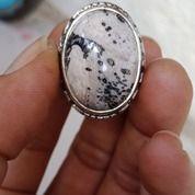 Natural Batu Cincin Fosil Kelor Motif Beras Kutah Antik