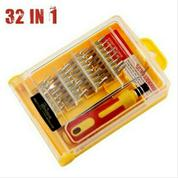 Obeng Set 32 In 1 Pinset Lengkap Screw Driver Kit Multifungsi Serbaguna
