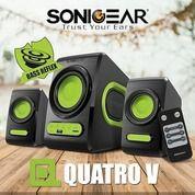 Speaker Aktif Sonic Gear Quatro V Speaker 2.1 Extreme Bass Hijau