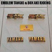 Emblem Tangki & Box Aki RXKing ( 4 Pcs )