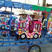 Wahana Pasar Malam Odong Tayo Kereta Panggung Mini Coaster