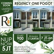 Rumah Regency One Pogot 2 Lantai DP Bisa Cicil