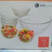 COD MAKASSAR   Mangkok Kaca Set 7pcs Kimglass Tulips