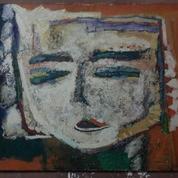 Lukisan Menong Latar Oranye Karya Original Redha Sorana Tahun 1991