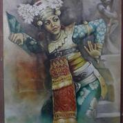 Lukisan Penari Pendet Karya Sangkuriang Tahun 2019