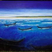 Lukisan Laut Biru Karya Maestro Hassan Pratama 2018