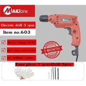 Mailtank Electric Drill 603 Power Bor 10MM Mesin Bor Listrik