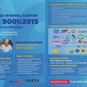 Training & Sertifikasi Internal Auditor ISO 9001 Quality Management System - Bandung Class
