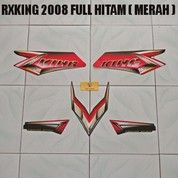 Striping RXKing 2008 Full Hitam ( Merah )