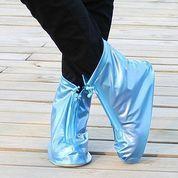 Shinny Shoes Cover Sepatu Pelindung Anti Air Banjir Pelindung Zipper