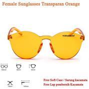 Grosir Transparan Sunglasses Female Retro