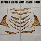 Striping Jupiter MX CW 2011 Hitam - Gold