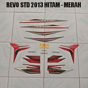 Striping Revo STD 2013 Hitam - Merah