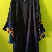 Dress Navy Satin