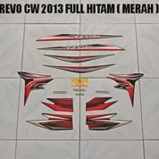 Striping Revo CW 2013 Full Hitam ( Merah )