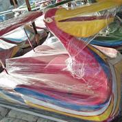 Sepeda Air Fiberglass Pelikan Merah
