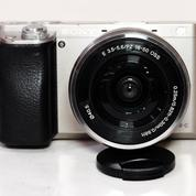 Sony A6000 Kit 16-50mm Silver Sc 26xxx Complite