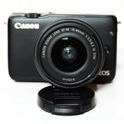 Canon EOS M10 WiFi Kit 15-45mm IS STM Black Fullset