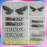 Satu Set Emblem Stiker Acrilic 3 Dimensi Honda CB 100