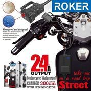 Charger Casan Motor Roker Street 2.4 A Fast Charging Anti Air LED Aki