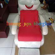 Kursi Keramas Jok Merah Rangka Putih