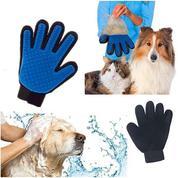 True Touch Glove Pet Grooming Hewan Peliharaan Salon Kucing Anjing Pijat