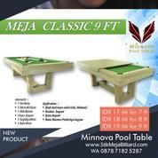 Meja Billiard Minnova Clasic 3 Fungsi Meja Makan-Billiard-PingPong Tenis Meja