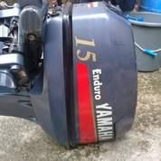 Mesin Tempel Speed Boat Yamaha 15pk 2 Tak Kondisi 90%