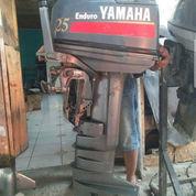 Mesin Tempel Speed Boat Yamaha 25pk 2tak Kondisi 85%