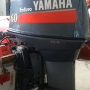 Mesin Tempel Speed Boat Yamaha 60pk 2tak Kondisi 90%