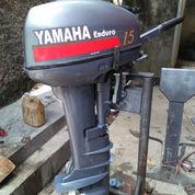 Mesin Tempel Speed Boat Yamaha 15pk Kapsul 80%