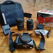 Canon EOS Rebel T3 Full Set Murah 3 Lensa