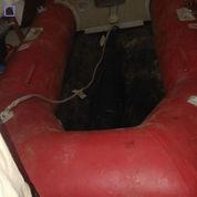 Perahu Karet Merk Zebec Plus Dayung Dan Pelampung