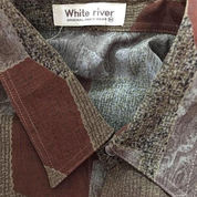 Kemeja White RIver Brown Cokelat Coklat Motif Abstrak
