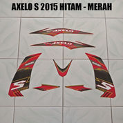 Striping Axelo S 2015 Merah - Hitam