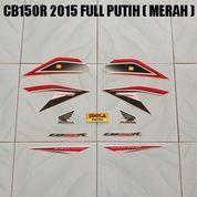 Striping CB150R 2015 Full Putih ( Merah )