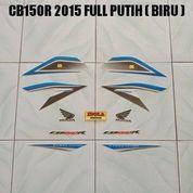 Striping CB150R 2015 Full Putih ( Biru )