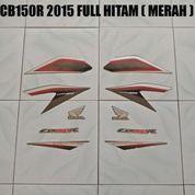 Striping CB150R 2015 Full Hitam ( Merah )