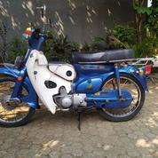Honda C70 Tahun 1974 Full Original Mulus Warna Biru Barang Langka