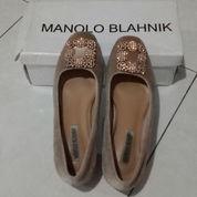 Manolo Blahnik Bludru Pink