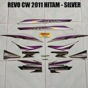 Striping Revo CW 2011 Hitam - Silver