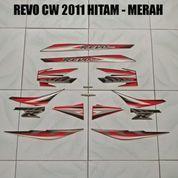 Striping Revo CW 2011 Hitam - Merah