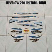 Striping Revo CW 2011 Hitam - Biru