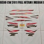 Striping Revo CW 2011 Full Hitam ( Merah )