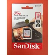 Memory Card SDHC Card Sandisk Ultra 16 Gb 80 MB/S Digital Camera Dslr