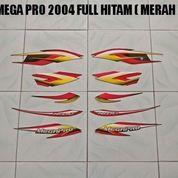 Striping Mega Pro 2004 Full Hitam ( Merah )