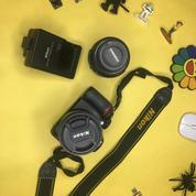 NIKON D3100 Kit Lensa 18-55mm VR & YongNuo Lensa Nikon 50mm F1.8