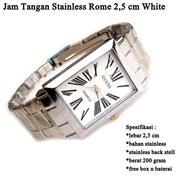 Jam Pria Stainless Silver Rome